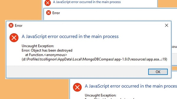 A Javascript Error Occurred In The Main Process là một lỗi rất thường gặp