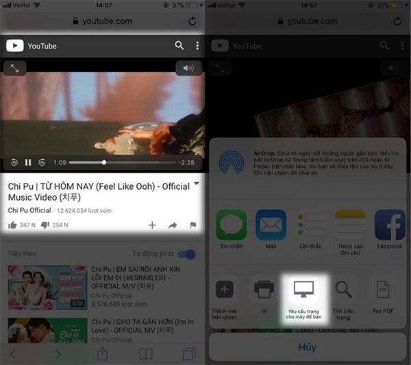 giao diện khác của kênh Youtube