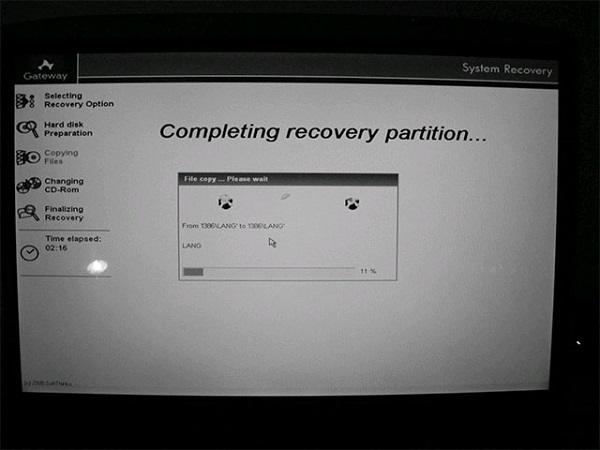 Reset máy tính sử dụng phân vùng phục hồi