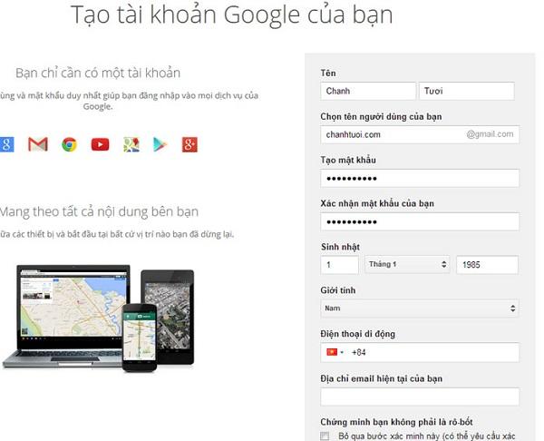Đăng nhập lại tài khoản Google