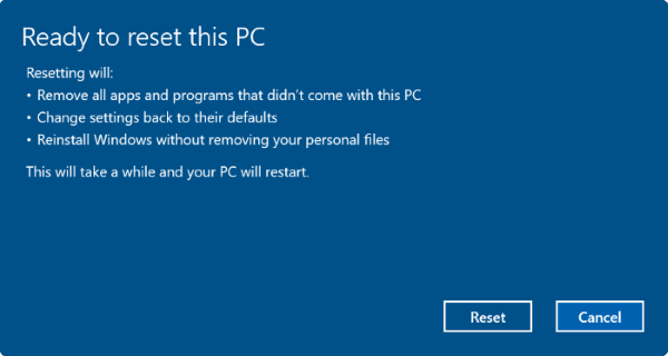 Khởi động máy tính để khắc phục một số lỗi.