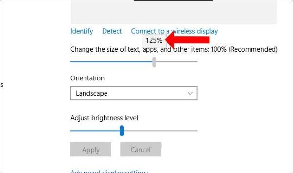 Làm sao để chỉnh cỡ chữ trên windows 10?