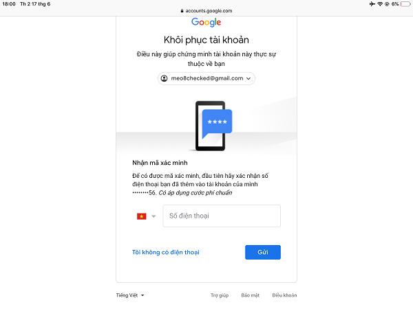 Mở ứng dụng và nhấn đăng nhập- cách đăng nhập gmail không cần xác minh