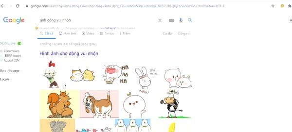 Tìm ảnh động trên google